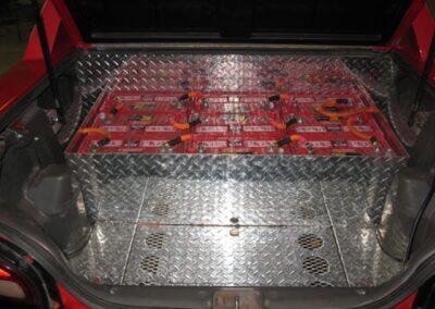 Étape no 11, Instalation de plusieur batterie a l'interieur de la valise modifié.