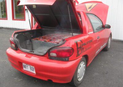 Exhibition de la voiture électrique de l'arrière Ferblanterie LM Bertrand