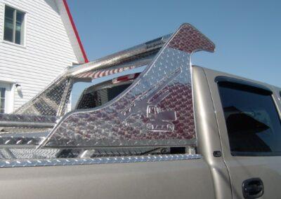 Back rack avec visée esthétique avec prolongement sur ailes