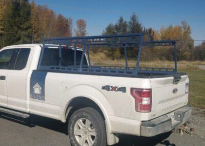 Back rack en acier avec support latéral et multiple attaches