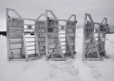 Deck forestier avec support droit personnalisé pour International