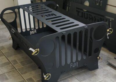 Foyer extérieur inspiré d'un Jeep