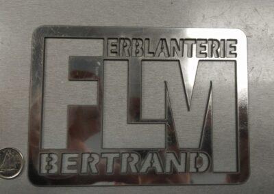Plaque logo en acier inoxydable