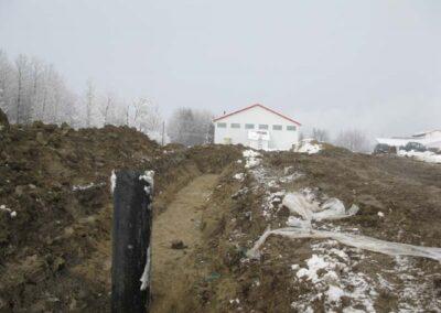 Creusage et installation du puit canadien