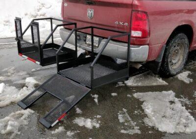 Support pour accessoires à roues avec rampe d'accès